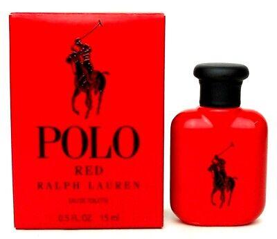 Polo Red by Ralph Lauren EDT Splash 0.5 oz./15 ml.for Men. No Cellophane. NIB