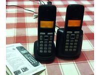 GIGASET A220A DUO CORDLESS PHONES WITH ANSWERING MACHINE