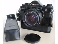 CANON POWER WINDER A & CASE in MINT CONDITION, FULLY WORKING. £20 ono