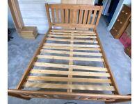 Corona Pine double bed frame