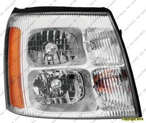 Head Lamp Passenger Side High Quality Cadillac Escalade 2002