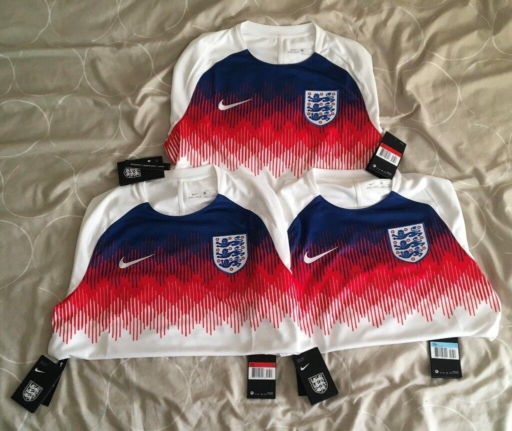 7eab3c63a Nike England Pre Match Dri-Fit World Cup 2018 Home Training Shirt Sizes S M  L XL