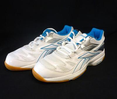 Reebok Damen Superior III Turnschuhe Handballschuhe Gr. 40 weiss blau silber V57