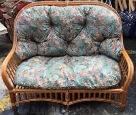 Wicker Sofa & Stool
