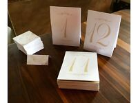 Wedding or event place names and table numbers