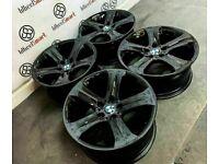 """GENUINE 19"""" BMW X6 ALLOY WHEELS - 5 x 120 - CRYSTAL BLACK FINISH"""