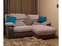 Harveys grey sofa with recliner and chaise. Under 1 year old. Pick up only.