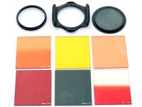 "Cokin ""A"" filters. 7 assorted with filter holder and 58mm adapter ring."