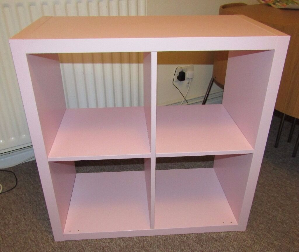 Baby Pink Ikea Expedit Kallax Shelving Unit Cupboard