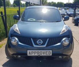 NISSAN JUKE 1.6 ACENTA PREMIUM 5d 117 BHP Apply for finance Online today! (blue) 2013