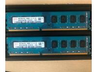 8gb (2x4gb) 1600hz ddr3 desktop ram