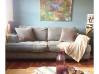 2 Seater Sofa - Dusty Blue -
