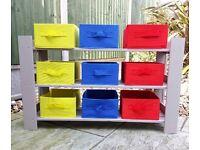 Children's Toy / Art & Craft Storage Unit 3-Tier ~ Chalk Paint Colour Latte