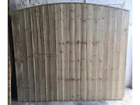 TIMBER/ WOODEN CLOSE BOARD PRESSURE TREATED GARDEN FENCE PANELS ~ BOW TOP🌲