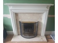 Wooden fire surround (painted white)