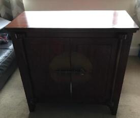 Dark Wood Oriental TV cabinet from The Pier
