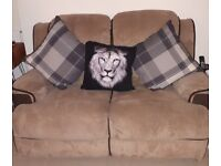 2 fabric recliner sofas