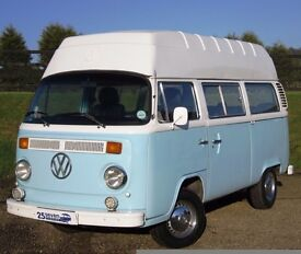 1976 (P) VW T2 Bay Window Camper - RHD 2/3-berth Hi-Top