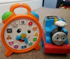 Thomas the Tank Engine and talking clock