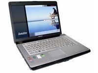 Toshiba Satellite Pro A200 Laptop Dual Core 1.6ghz 2gb Ram 80gb HD DVDRW Windows 10