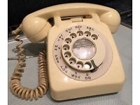 Original 50s/60s BT beige telephone