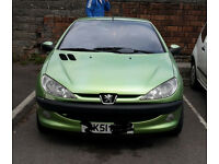 Here I Have My Lovley Green Peugeot 206cc Convertable