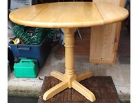 Round Drop Leaf Solid Table
