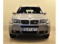 BMW X3 2.5 D M SPORT 5d 282 BHP + AIR CON + AUX + MP3/CD (grey) 2007