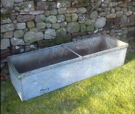 Victorian antique riveted galvanised Steel water trough or garden planter + I CAN DELIVER