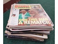 Large Collection Of Approx 163 Boxing News Magazines