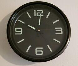 11'' Wall Clock Quartz Indoor Black US Glow in the Dark