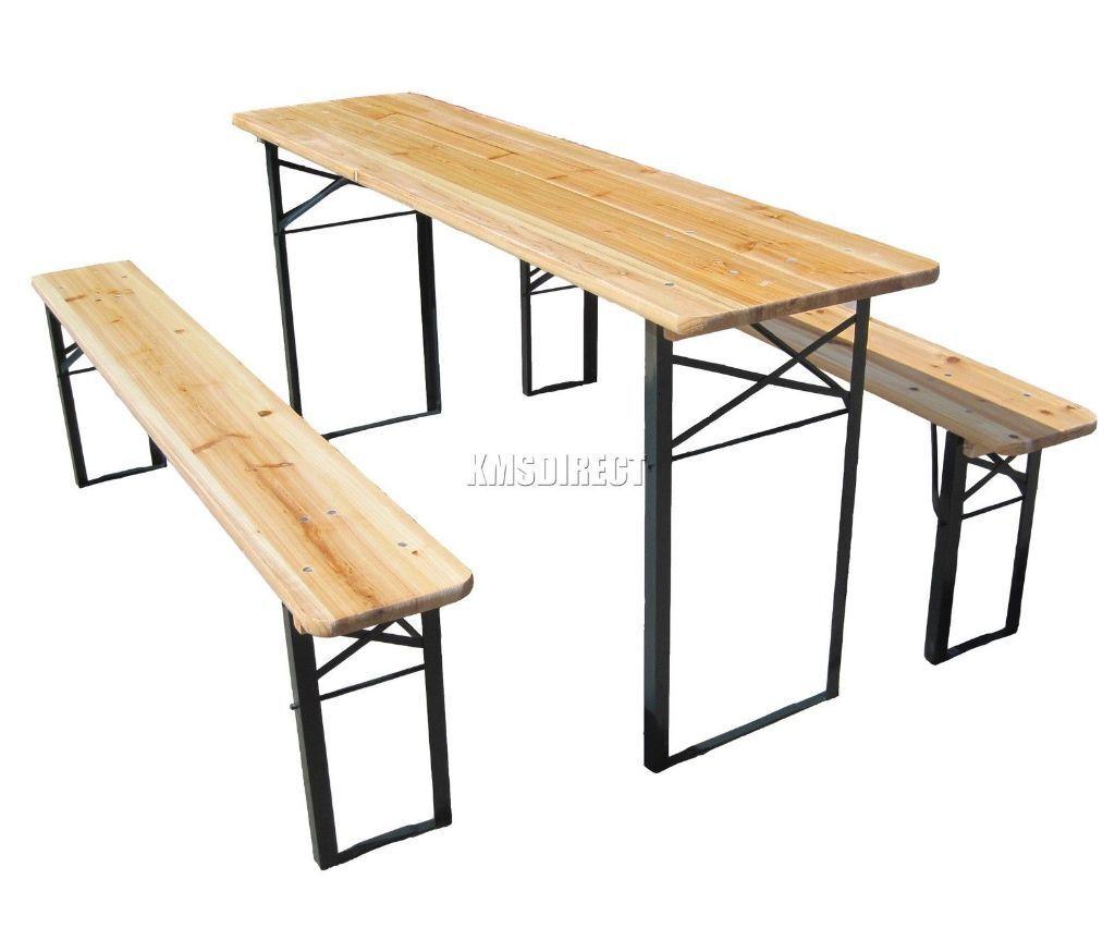 German beer festival folding table garden patio furniture - Table banc bois exterieur ...