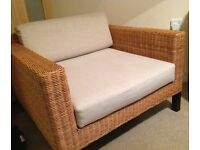 Habitat wicker armchair. £30