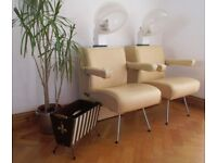 VINTAGE RETRO 1960's ATOMIC SPUTNIK HAIR SALON DRYER CHAIRS x 2, WORKING!