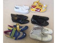 6 pairs of men's Nike trainers, shoes, cycling shoes and plimsoles. Most size 10 uk