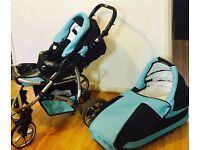 Baby Pram Stroller/Buggy Pushair Twing