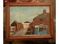 I have good furniture and pictures of around Liverpool some work is made by my dad I make murals