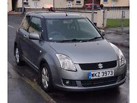 Suzuki Swift 2008 GLX 1.5, petrol, 3 door, Grey, low mileage (not golf, ibiza, corsa, clio)