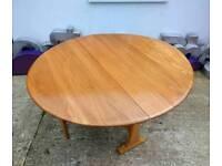 Retro Ercol Windsor Gate Leg Dining Table