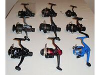 Fishing Reel x 9 - Job Lot. Fixed spool. Spinning Coarse Sea Shakespeare Daiwa DAM Silstar Zebco