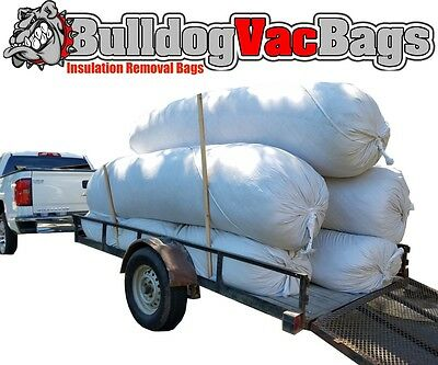 20 Insulation Waste Removal Vacuum Bags Holds 105 Cu Ft 420 Lbs 7.50 Bag