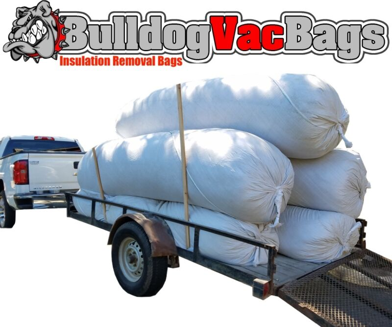 20 Insulation Waste Removal Vacuum Bags, Holds 105 Cu Ft, Holds 420 lbs!