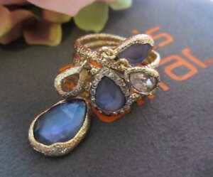 Alexis Bittar Maldivian Dangling Charm Ring Size 8 with Iolite Doublet NWT