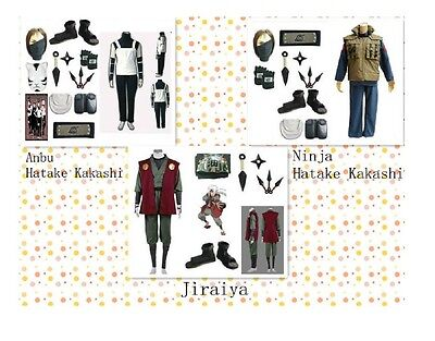 Naruto Anbu Hatake Kakashi Jiraiya Leaf Village Cosplay Costume Mask Whole - Leaf Village Kostüm