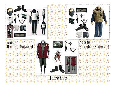 Naruto Anbu Hatake Kakashi Jiraiya Leaf Village cosplay kostüm Mask Whole - Leaf Village Kostüm