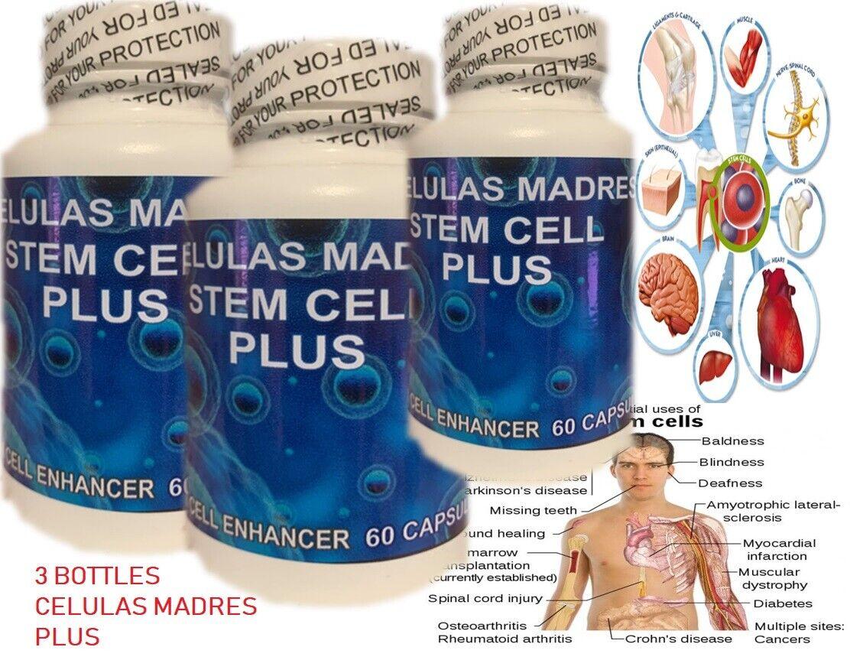 3 Celulas Madres steam enhancer 100% regenerador celular maravilloso madre cell+