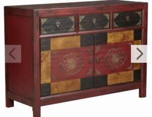 Wood Cabinet (hand painted)