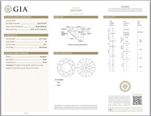 2.48ct Round GIA Certified Vintage Platinum Diamond Engagement Ring 7