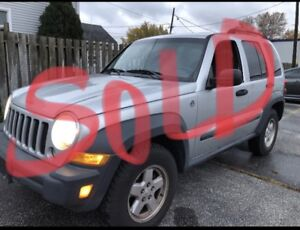 SOLD SOLD SOLD⭐️⭐️⭐️2006 Jeep Liberty North 4x4⭐️176,000 K