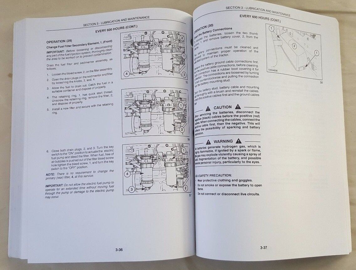 8 of 10 New Holland Operator Manual Tc21 Tractor